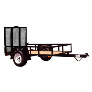 6x4ft Power Coated Landscape ATV Trailers Utility Trailer For Sales