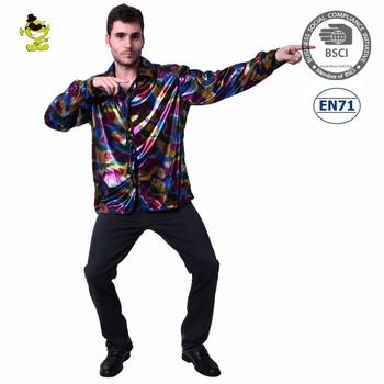 adulto Popular Adultos Disco Fiesta De 70 Buy S Hombre Halloween camisa Discoteca Para Populares Hombre Divertido Vestido Moda Traje Yfgyvb76