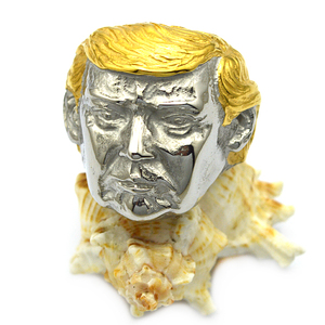 new designs stainless steel ring with US president Donald Trump head shape for sale online