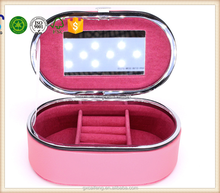 pink leather cosmetic with glass packaging box