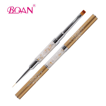 Double Use Nail Art Liner Striping Brushes For Short Strokes Details Blending Elongated Line