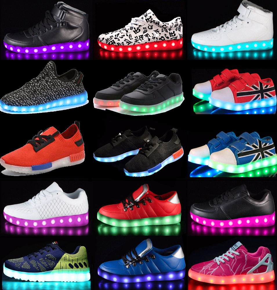 dancing footwear new fashion color changing led customize shoes