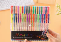 South Korea office supplies Pure and fresh and lovely cool color pen 36 color rainbow color pen painting Marker pen PN3427