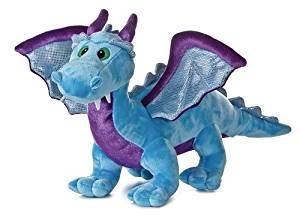 "Aurora Blue Dragon with Sound 18"" Plush"