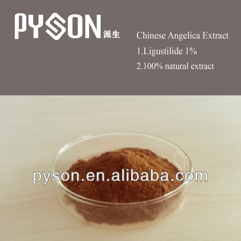 Factory supply 100% natural Ligustilide 1% angelica root extract/ Dong Quai Powder
