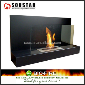 Stainless bioethanol fireplace