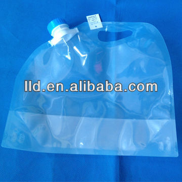 5L big reusable water bag,food grade PE foldable water bag
