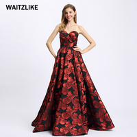 2018 High Quality off shoulder sleeveless evening Flowers long V-Neck A Line Beautiful Casual Evening Party Dress made in china