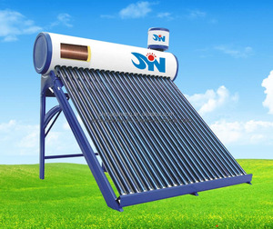 Wholesale Thermosiphon Evacuated Tube Solar Hot Water Heater System with Copper Coil in Water Tank as Heater Exchanger