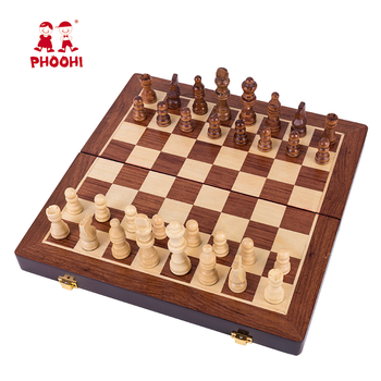 High quality classic educational learning chess board game toy wooden chess