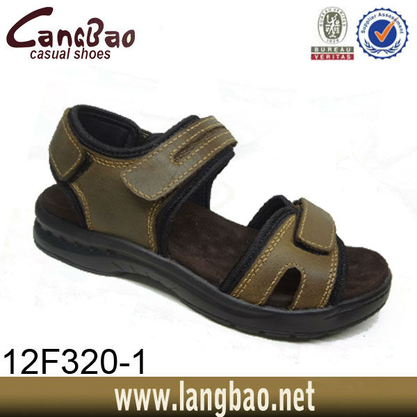 High Quality Italian Hottest Beach Shoes Men's Leather Sandals