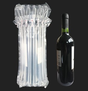 Inflatable Shockproof Air Cushion Column Bag Wrapping of Red Wine Bottle PE Filled Protector Factory