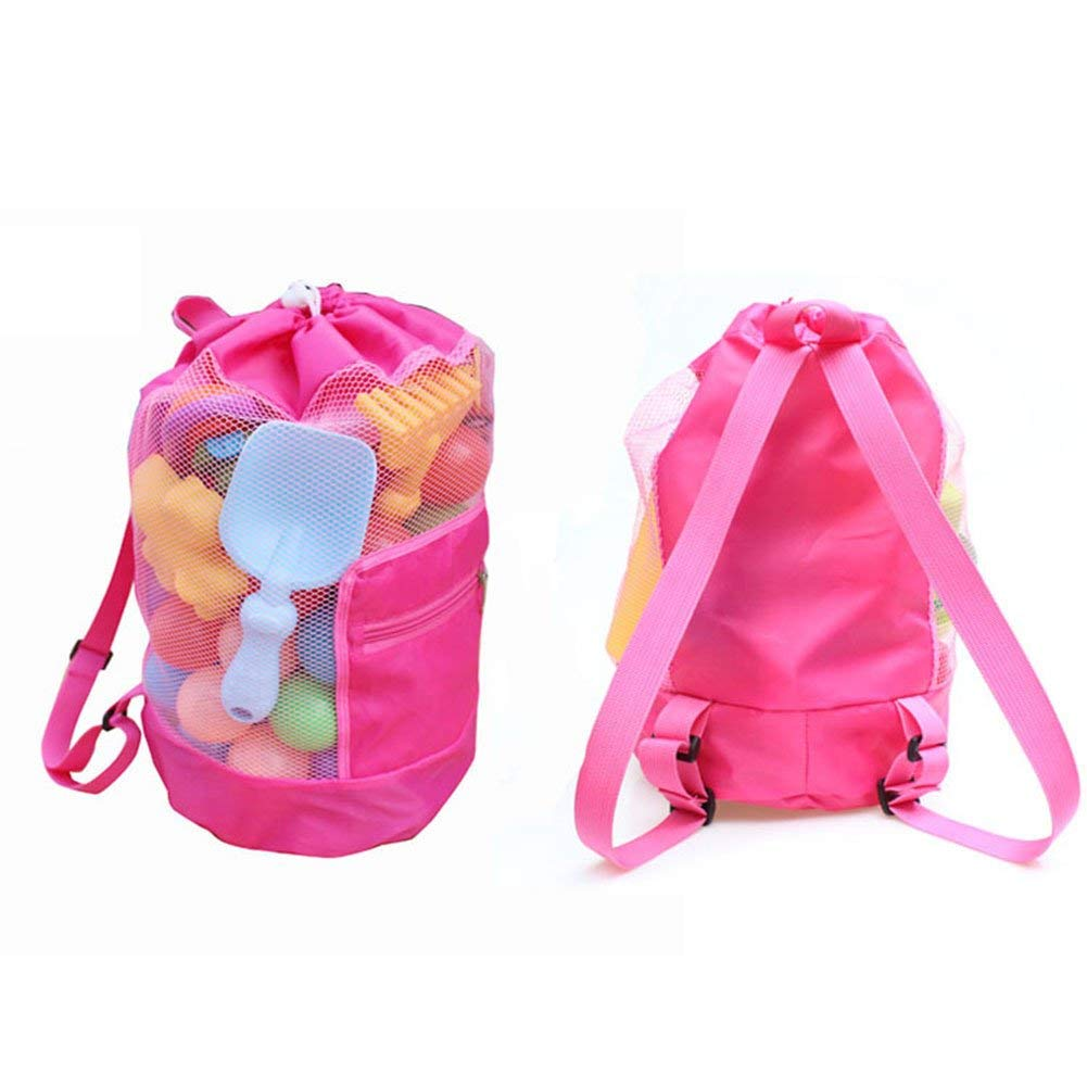 22d6fd773a61 Buy SHZONS Beach Toy Bag, Mesh Beach Bag Tote Drawstring Beach ...