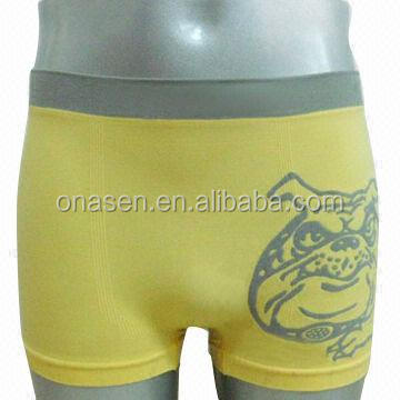Yellow men's boxer & nylon boxer & men's underwear