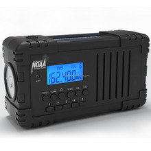 Surya Angin Digital AM/FM/SW/NOAA Cuaca Siaga Radio dengan 2200 mAh rechargeable lithium baterai