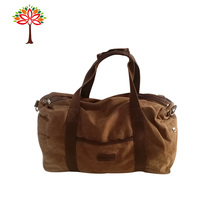 Big Capacity Durable Brown Washed Canvas Bags Travel bags for men