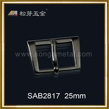 High quality reversible polish solid brass belt buckle