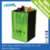 2014 China supplier 4 bottle wine tote bag with printing