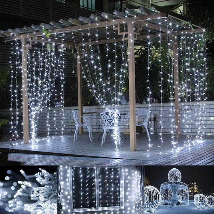 Outdoor Wanddecoratie fairy Kerst Led Gordijn String Light