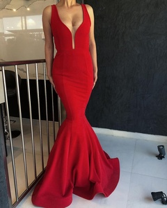 Sexy Red Prom Dress Mermaid Shape Evening Gown
