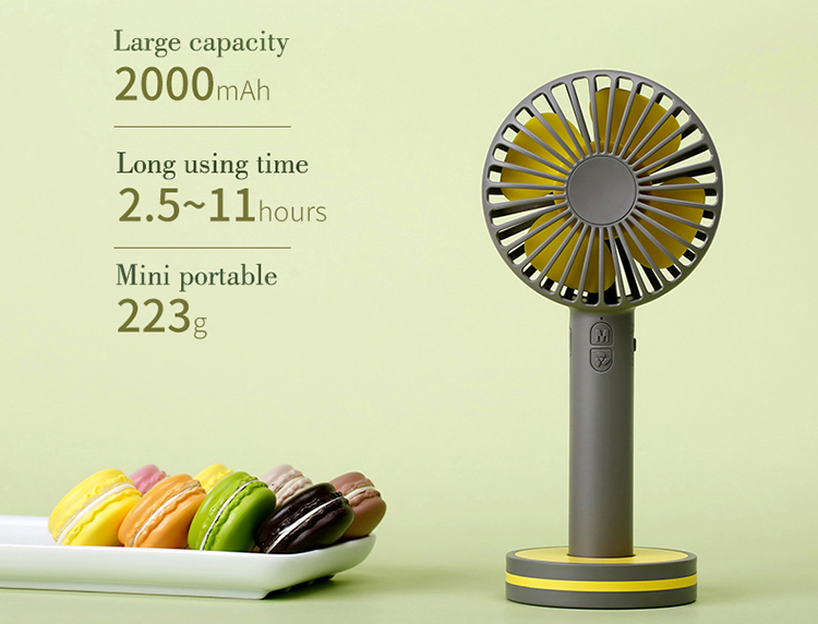 China custom logo fashionable small high speed three speed control rechargeable fan with strong winds