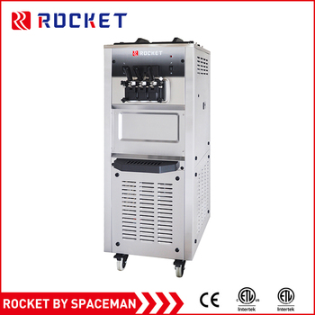 wholesale factory price 2+1 mixed flavors mobile soft ice cream machine