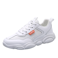 Low MOQ Top selling korean white custom logo casual sports shoes for men
