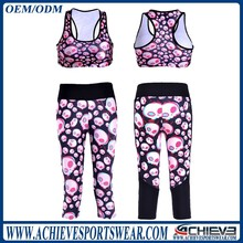 wholesale yoga fitness clothing, gym fitness wear,sublimation fitness leggings