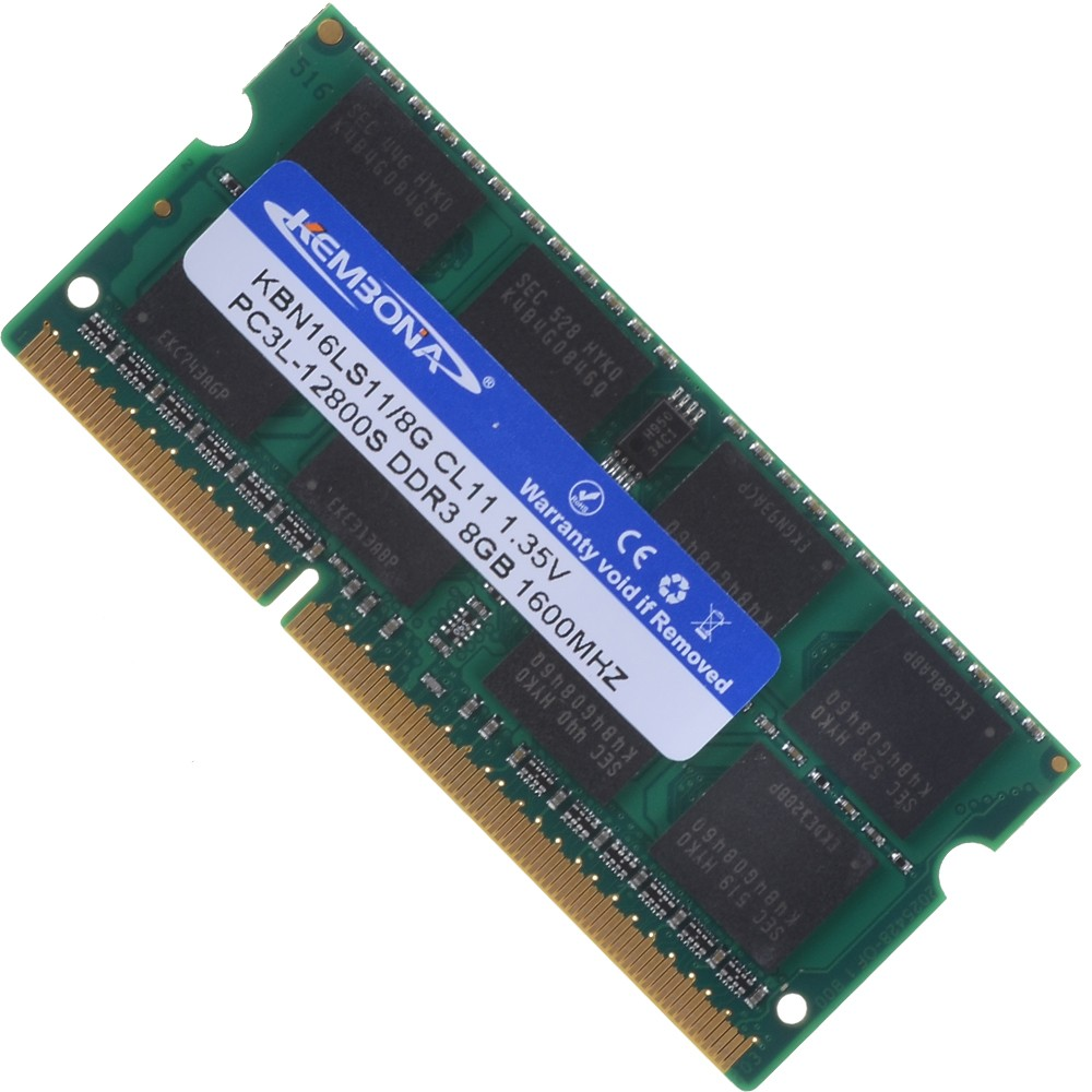 Laptop DDR3L 1600 RAM 8GB Memory Module PC3L-12800 SODIMM