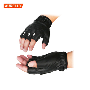 2pcs/Pair Leather Half Finger Motorcycle Gloves Soft Motor Riding Racing Men Women Motorbike Gloves Summer Winter