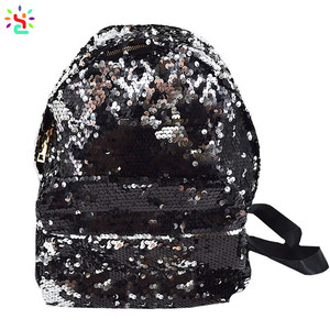 Wholesale glitter backpack daypack sequin fashion school bag casual handbags for girls women travel bag