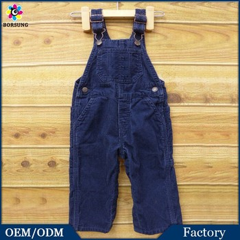 53a8ecc143b Baby Long Pants Frocks Designs For Cutting Vintage Navy Blue Corduroy  Overalls Kids Baby Romper Clothes