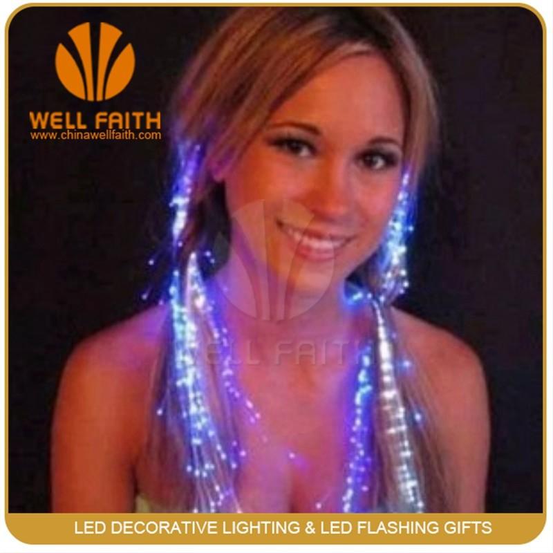 Luminous Party Girl Fiber Optic Hair Fake Extension Flash Hair Braid