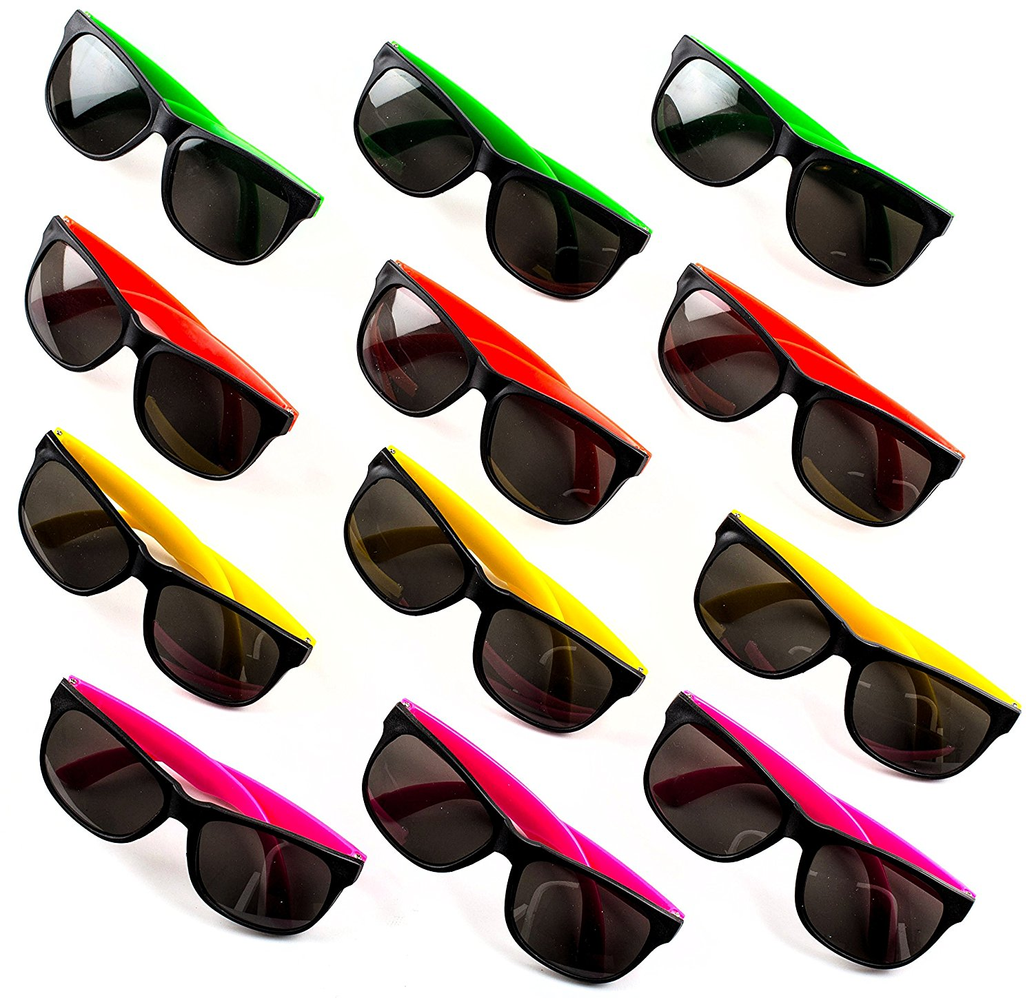 80c8ccbc32 24 Neon Sunglasses For Kids and Adults - Bulk Party Favors for Kid