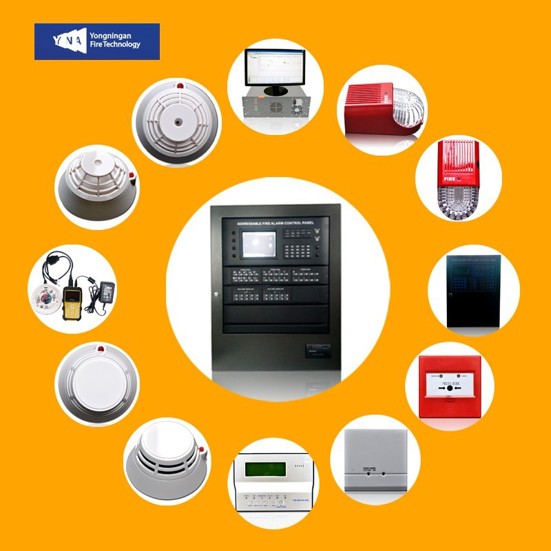 Africa Addressable Fire Alarm Fire Fighting Control Panel Keyboard Operation
