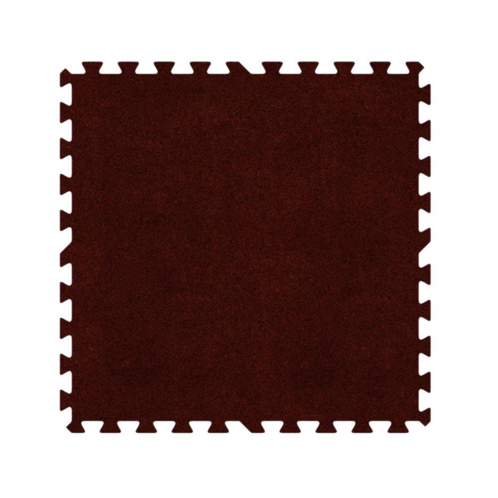 Alessco EVA Foam Rubber Interlocking Premium Soft Carpets 6' x 8' Set Burgundy
