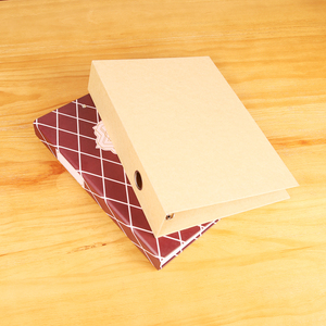 Factory price custom cheap recycled kraft paper cardboard cover lever arch 3d file folder ring binders