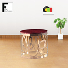 Classic European Furniture Round Wood Small End Table