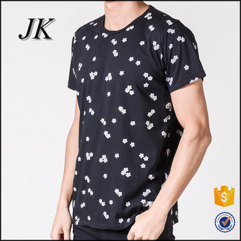 Mens Short Sleeve Navy Blue All Over Flower Printing Floral Style T Shirt Buy Mens Floral Style T Shirt,Mens All Over Printing T Shirt,Mens Short