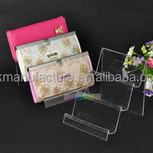 Clear Acrylic Clutch Bag Display Stand