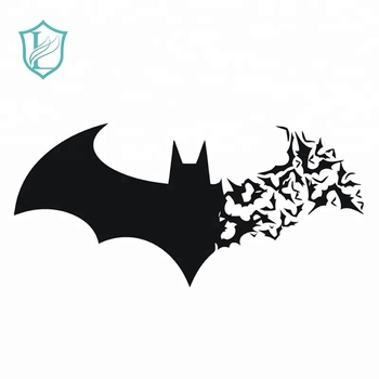 Factory Cut Waterproof Black Bat Shape Vinyl Stickers For