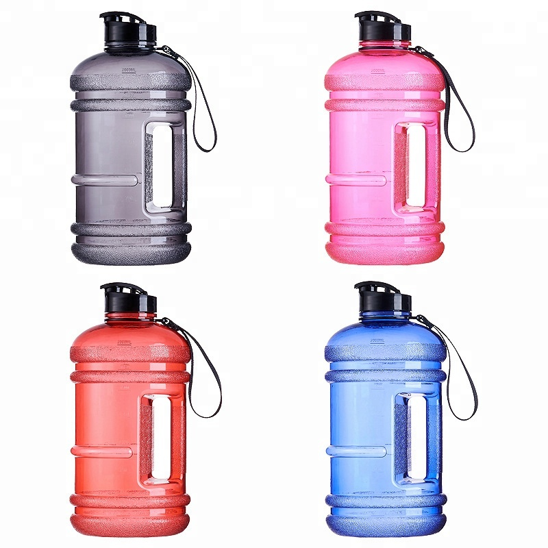 51010f18aa 64 oz. 1/2 Gallon Clear BPA FREE Plastic Water Bottle w/ 48mm Twist Cap