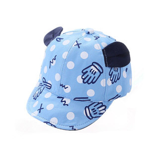 Wholesale custom cat ears soft brim baby sublimation cap