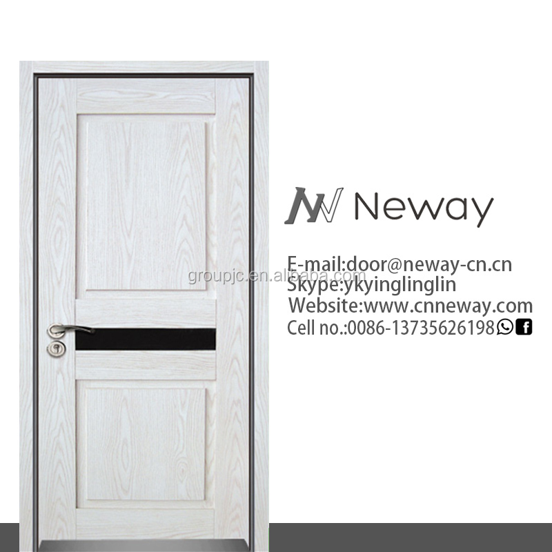 automatic fence sliding gate design hotel building fashion slide up glass insert solid wood door