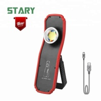 30w 1300 lumen super bright led portable aldi rechargeable round cob work light magnetic base with hook