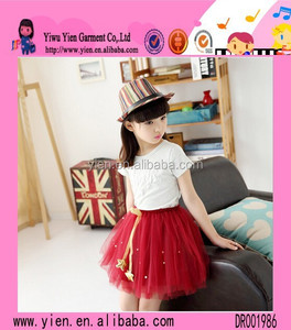New Model Gauze Lace Peplum Tutu Dress Fashion Party Wear Frocks For Girls