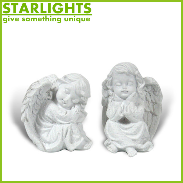 polyresin angel statue decoration small christmas resin angel figurine