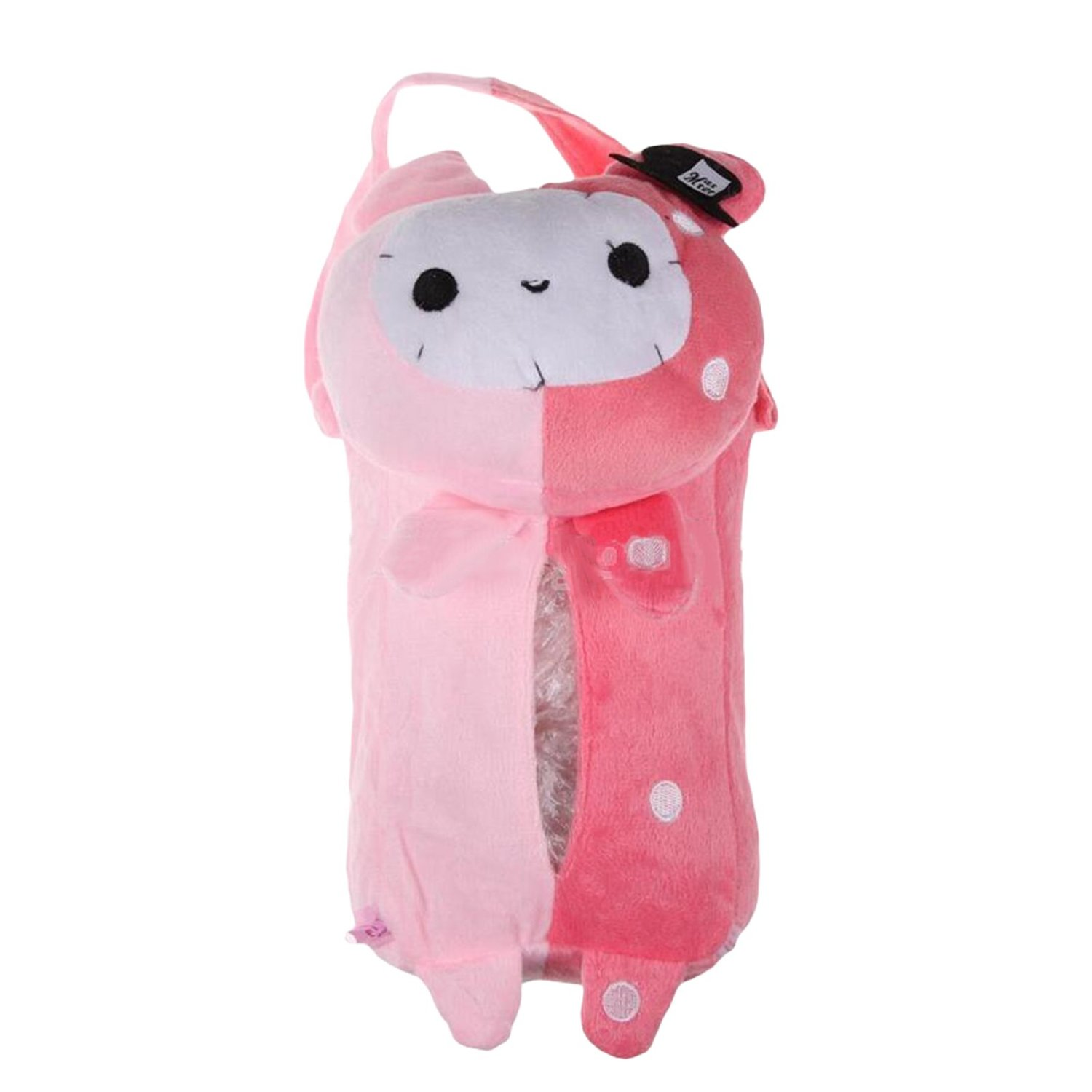 LADEY Cute Soft Portable Hanging Car Tissue Box Cover Car Accessories Home Office Car Rectangle Animal Tissue Box Cover Holder Paper Box Bathroom Storage Hot(Rabbit)