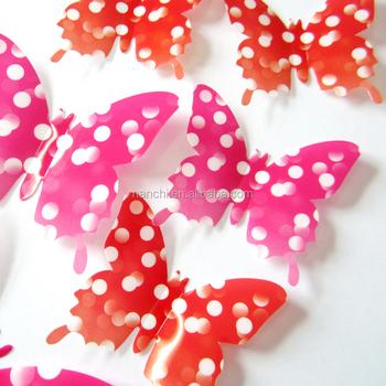 Dream Magic Art Design 3d Butterfly Wall Sticker Home Kids Room Decoration  Cute Plastic Butterfly Adesivo Part 96
