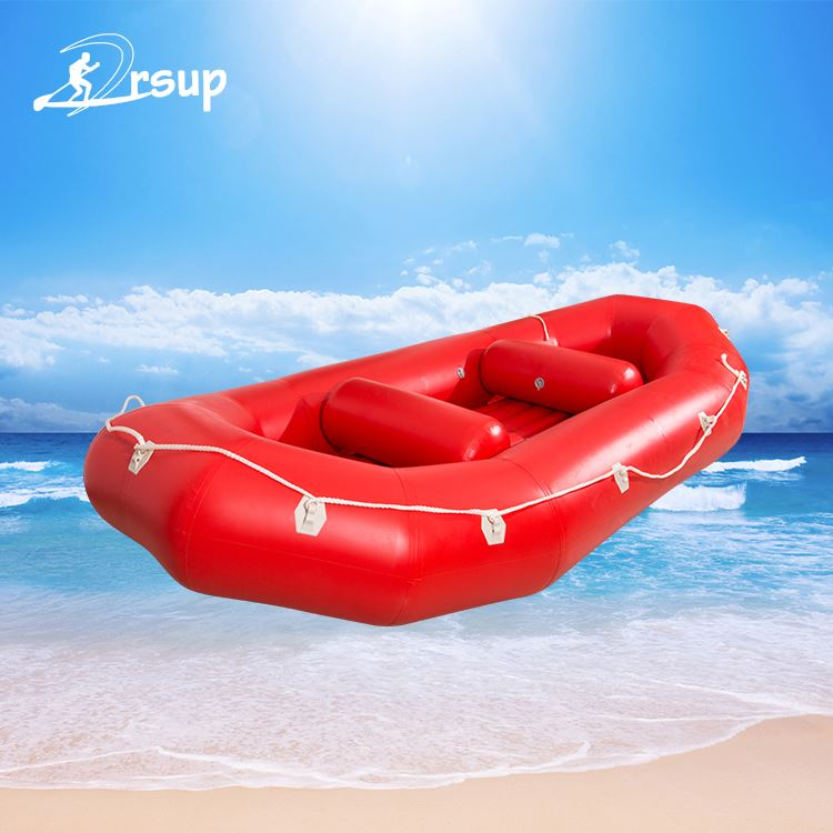 Water sport rowing boat pvc inflatable boat with outboard motor